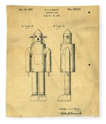 Mechanical Man Patent Fleece Blanket