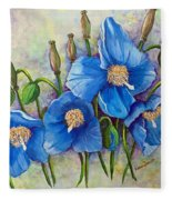 Meconopsis    Himalayan Blue Poppy Fleece Blanket