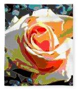 Medallion Rose Fleece Blanket