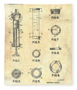 Medical Syringe Patent 1954 Fleece Blanket