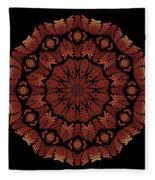 Medicine Wheel Dragonspur Fractal K12-3 Fleece Blanket