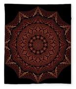 Medicine Wheel Dragonspur Fractal K12-4 Fleece Blanket