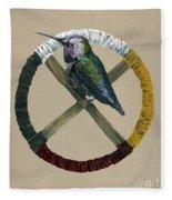 Medicine Wheel Fleece Blanket