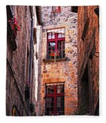 Medieval Architecture Fleece Blanket