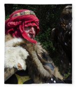 Medieval Barbarian Artur And Spirit Fleece Blanket