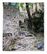 Medieval Garden Fleece Blanket