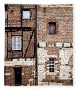 Medieval Houses In Albi France Fleece Blanket