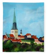 Medieval Tallinn Fleece Blanket