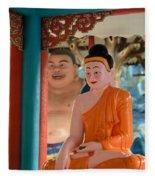 Meditating Buddha In Lotus Position Fleece Blanket