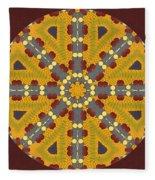 Meditating On Life - Mandala Fleece Blanket
