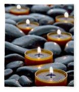 Meditation Candles Fleece Blanket