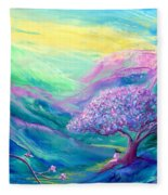 Meditation In Mauve Fleece Blanket
