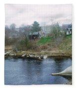 Medomak River, Waldoboro,maine Fleece Blanket