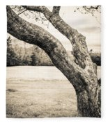Meet Me Under The Old Apple Tree Fleece Blanket