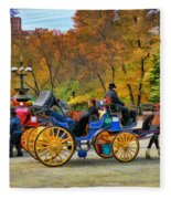 Meeting Of The Carriages Fleece Blanket