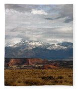 Meeting Of The Mountains And Desert Fleece Blanket