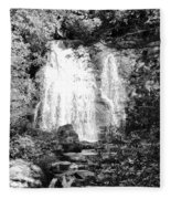 Meigs Falls Smoky Mountains Bw Fleece Blanket