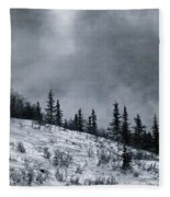 Melancholia Pines And Trees Fleece Blanket