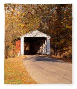 Melcher Covered Bridge Parke Co In Usa Fleece Blanket