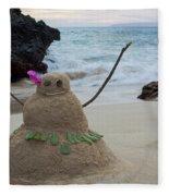 Mele Kalikimaka Merry Christmas From Paako Beach Maui Hawaii Fleece Blanket