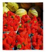 Melons And Strawberries Fleece Blanket