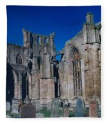 Melrose Abbey  Scotland Fleece Blanket