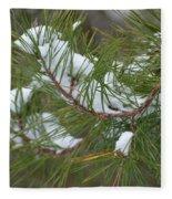 Melting Snow In The Pines Fleece Blanket