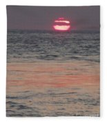 Melting Sun Into The Cool Sea Fleece Blanket