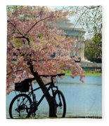 Memorial Bicycle Fleece Blanket