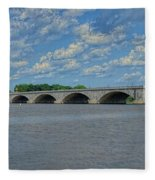 Memorial Bridge After The Storm Fleece Blanket