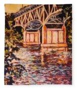 Memorial Bridge Fleece Blanket