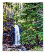 Memorial Falls In Montana Fleece Blanket