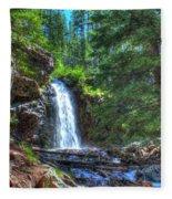 Memorial Falls With Sky Fleece Blanket