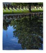 Memorial Reflecting Pool Fleece Blanket