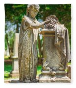 Memphis Elmwood Cemetery Monument - Cassie Hill Fleece Blanket