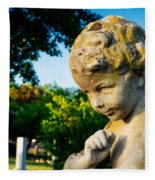 Memphis Elmwood Cemetery - Boy Angel Fleece Blanket