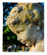 Memphis Elmwood Cemetery - Boy Angel Vertical Fleece Blanket