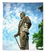 Memphis Elmwood Cemetery - Man With Cane Fleece Blanket