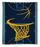 Memphis Grizzlies Court Fleece Blanket