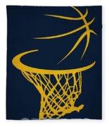 Memphis Grizzlies Hoop Fleece Blanket
