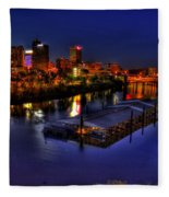 Memphis Tn Just Before Dawn Fleece Blanket