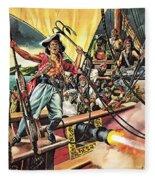 Men Of The Jolly Roger Fleece Blanket