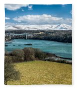 Menai Bridge 1819 Fleece Blanket