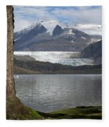 Mendenhall Glacier In Late Fall Fleece Blanket