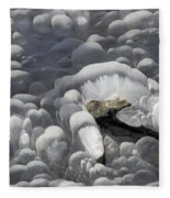 Mendenhall Lake Ice Abstract Fleece Blanket
