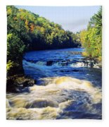 Menominee River At Piers Gorge, Upper Fleece Blanket