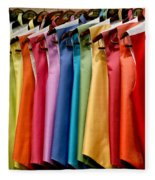 Mens Tuxedo Vests In A Rainbow Of Colors Fleece Blanket