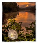 Meramec River At Chouteau Claim Fleece Blanket