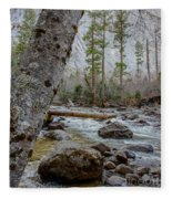 Merced River From Happy Isles Fleece Blanket