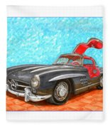 Mercedes  Benz 300 S L Gull Wing Fleece Blanket